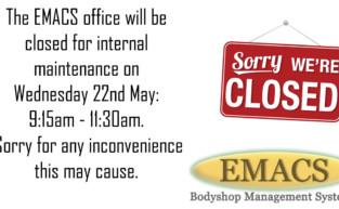 EMACS scheduled maintenance